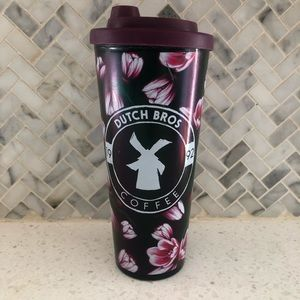 Dutch Bros Tulips Floral Tumbler Travel with Lid